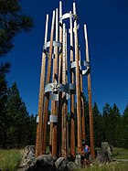 "Boy Scout ""Friendship Poles"" in Farragut Park (4836393262).jpg"