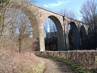 Inde - Itertalviadukt viaduct of the Vennbahn railway over the Inde
