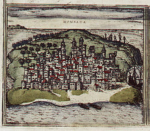 Ottoman–Portuguese conflicts (1580–89) - Image: Braun Mombasa HAAB