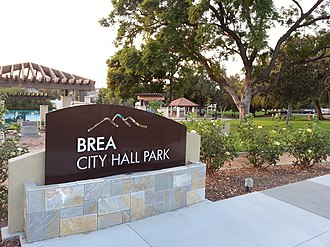 Brea City Hall and Park - Image: Brea City Hall and Park 2012 10 05 18 13 26