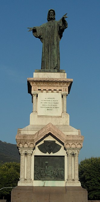 Arnold of Brescia - Monument to Arnold of Brescia in Brescia, Italy (1882).