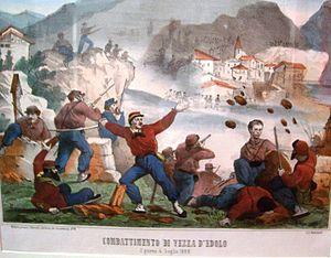 Invasion of Trentino (1866) - Battle of Vezza