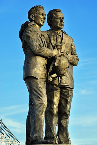 Derby County F.C. - The Brian Clough and Peter Taylor statue
