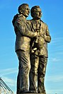 The Brian Clough and Peter Taylor Statue at Pride Park Stadium