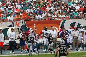 2012 Miami Dolphins season - Brian Hartline in the game against the Oakland Raiders, September 16