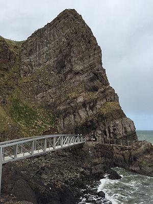 The Gobbins - Bridge and cliff at The Gobbins