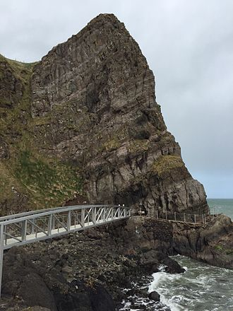 The Gobbins - Bridge and cliff at The Gobbins