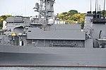Bridge of JS Nichinan(AGS-5105) left side view at JMSDF Yokosuka Naval Base April 30, 2018 01.jpg