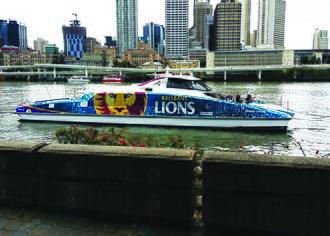 Transdev Brisbane Ferries - Image: Brisbane Lions City Cat wrap (26946881125)