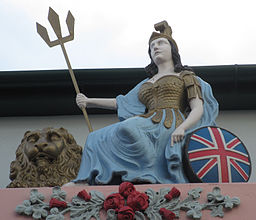 Britannia sculpture The Grapes pub Jersey a