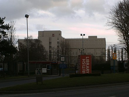 The British Library at Boston Spa (on Thorp Arch Trading Estate), West Yorkshire British Library.jpg