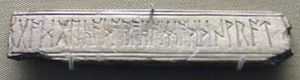 Bind rune - Image: British Museum Runic Bone Plaque