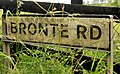 Bronte Road sign near Glascar - geograph.org.uk - 1944484.jpg