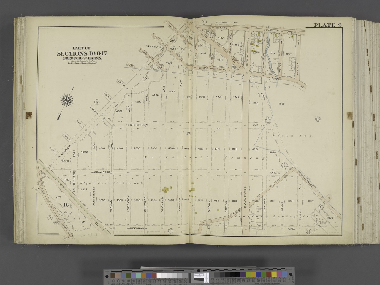 File bronx v 3 double page plate no 9 map bounded by for 4 holland terrace needham ma