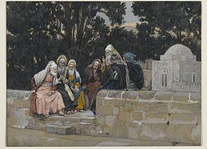 Brooklyn Museum - The Pharisees and the Herodians Conspire Against Jesus (Les pharisiens et les hérodiens conspirent contre Jésus) - James Tissot - overall.jpg