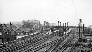 Brough railway station - The station in 1961