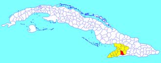 Buey Arriba - Image: Buey Arriba (Cuban municipal map)