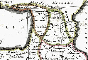 Kingdom of Kartli-Kakheti - Detail from the map by Claude Buffier, 1736