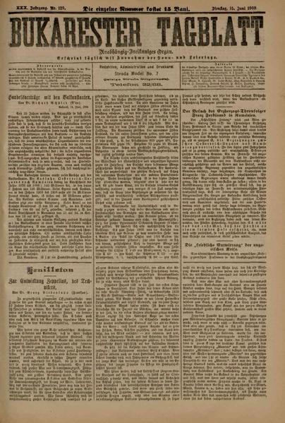 File:Bukarester Tagblatt 1909-06-15, nr. 129.pdf