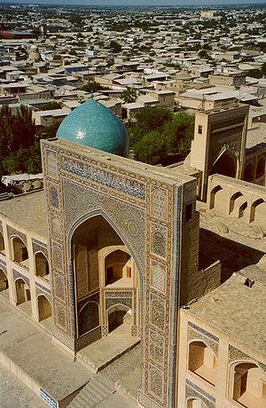 Po-i-Kalyan - Iwan of the Mir-i Arab madrasa.