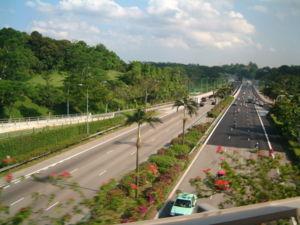 Bukit Timah Expressway - Bukit Timah Expressway, looking south towards the PIE.