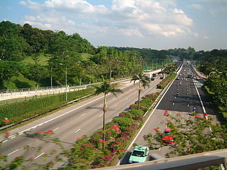 Expressways of Singapore - The Bukit Timah Expressway is part of the Asian Highway Network.