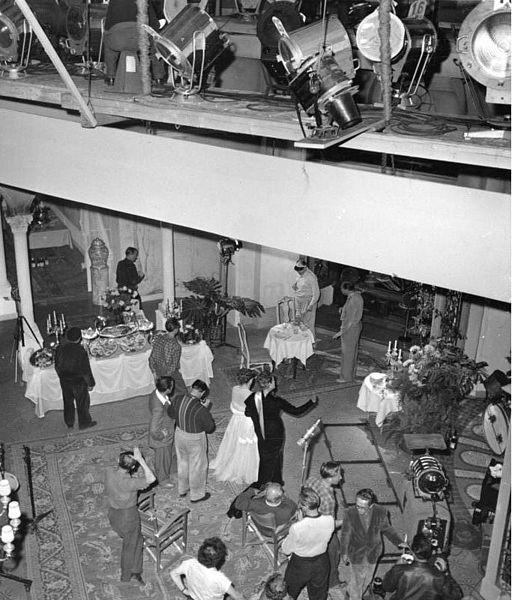 Bundesarchiv B 145 Bild-F001054-0003, Göttingen, Dreharbeaiten im Filmstudio