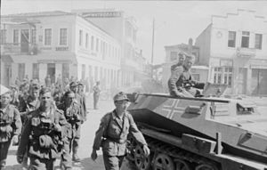 Axis occupation of Greece - German soldiers in Athens, 1941.