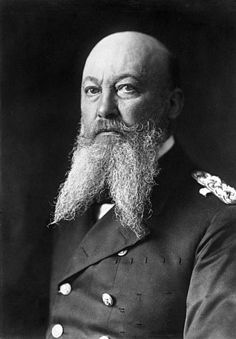 "German Admiral Alfred von Tirpitz was the primary architect of the strategy of creating a ""fleet in being"" to force concessions from Britain after 1897"