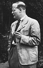 Dietrich Bonhoeffer in 1939. Foto uit het Bundesarchiv, Bild 146-1987-074-16 / CC-BY-SA