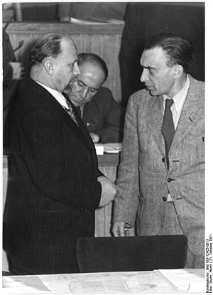 Rudolf Herrnstadt - Walter Ulbricht (left) with Herrnstadt, 1951