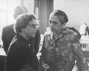 Hilde Benjamin - Hilde Benjamin (right) at the 1963 trial in absentia of Hans Globke
