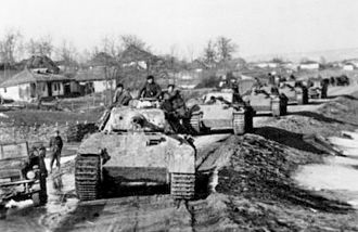 First Jassy–Kishinev Offensive - Vehicles and Panther tanks of the Grossdeutschland division in Romania – April 1944