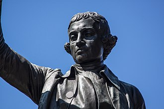 Edmund Burke (Thomas) - Image: Burke Statue Closeup by Steven Christe