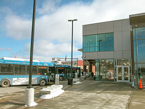 Joseph Scelsi Intermodal Transportation Center - BRTA buses at Scelsi ITC in 2006