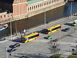 Buses seen from Christiansborg Palace 04.JPG