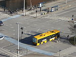 Buses seen from Christiansborg Palace 05.JPG