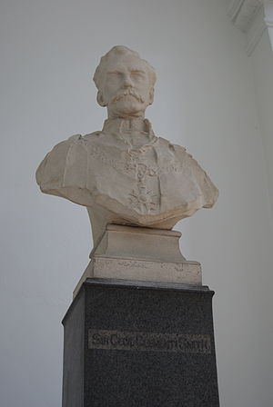 Cecil Clementi Smith - A bust of Clementi Smith in Victoria Concert Hall