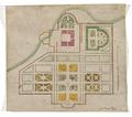 Byggnadsritning i vattenfärg, 1600-tal - Skoklosters slott - 98958.tif