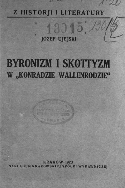 File:Byronizm i skottyzm w Konradzie Wallenrodzie.djvu