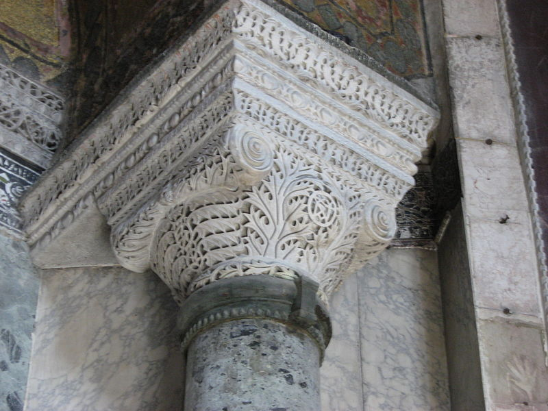 Dosya:Byzantine column Hagia Sophia March 2008.JPG