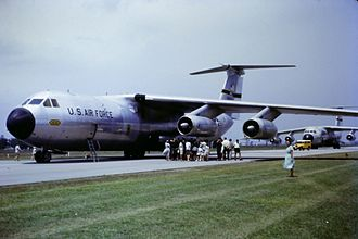Lockheed C-141 Starlifter - Early C-141As of 436th Airlift Wing, MAC, at Brisbane Airport, Australia supporting the visit of President Lyndon B. Johnson, 22 October 1966.