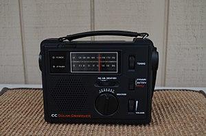 Emergency radio - Image: C. Crane CC Solar Observer (14575439649)
