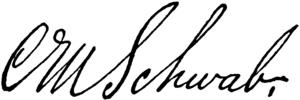 Charles M. Schwab - Image: CAB 1918 Schwab Charles M signature