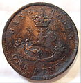 CANADA, BANK OF UPPER CANADA 1857 -ONE PENNY b - Flickr - woody1778a.jpg