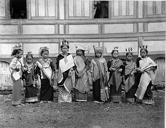 Adat - Group of Minangkabau people in adat dress. 1895