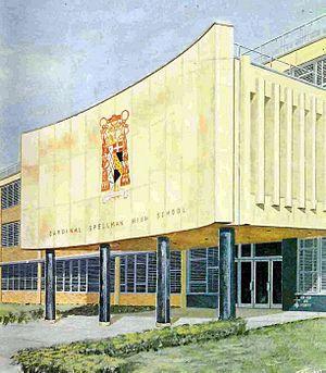 Cardinal Spellman High School (New York City) - Main entrance