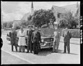 Cadillac Fleetwood Luxury Limousine NZR New Zealand Railways Department Road Services. With group. PHOTOGRAPHER J.F. Le Cren, F.G. Tingay and R.A.O. Morgan DATE 1953.jpg