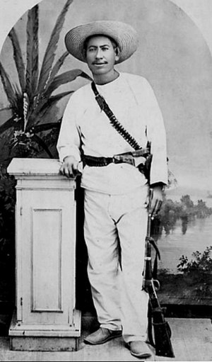 Ramón Corral - Yaqui leader José Maria Bonifacio Leiva Perez, Cajemé, who Corral interviewed following his capture