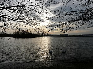 English: Calm evening Lakeside ... Doncaster, ...